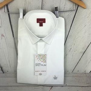 NWT Alfani Slim Fit Stretch Shirt sz Large 16-16.5